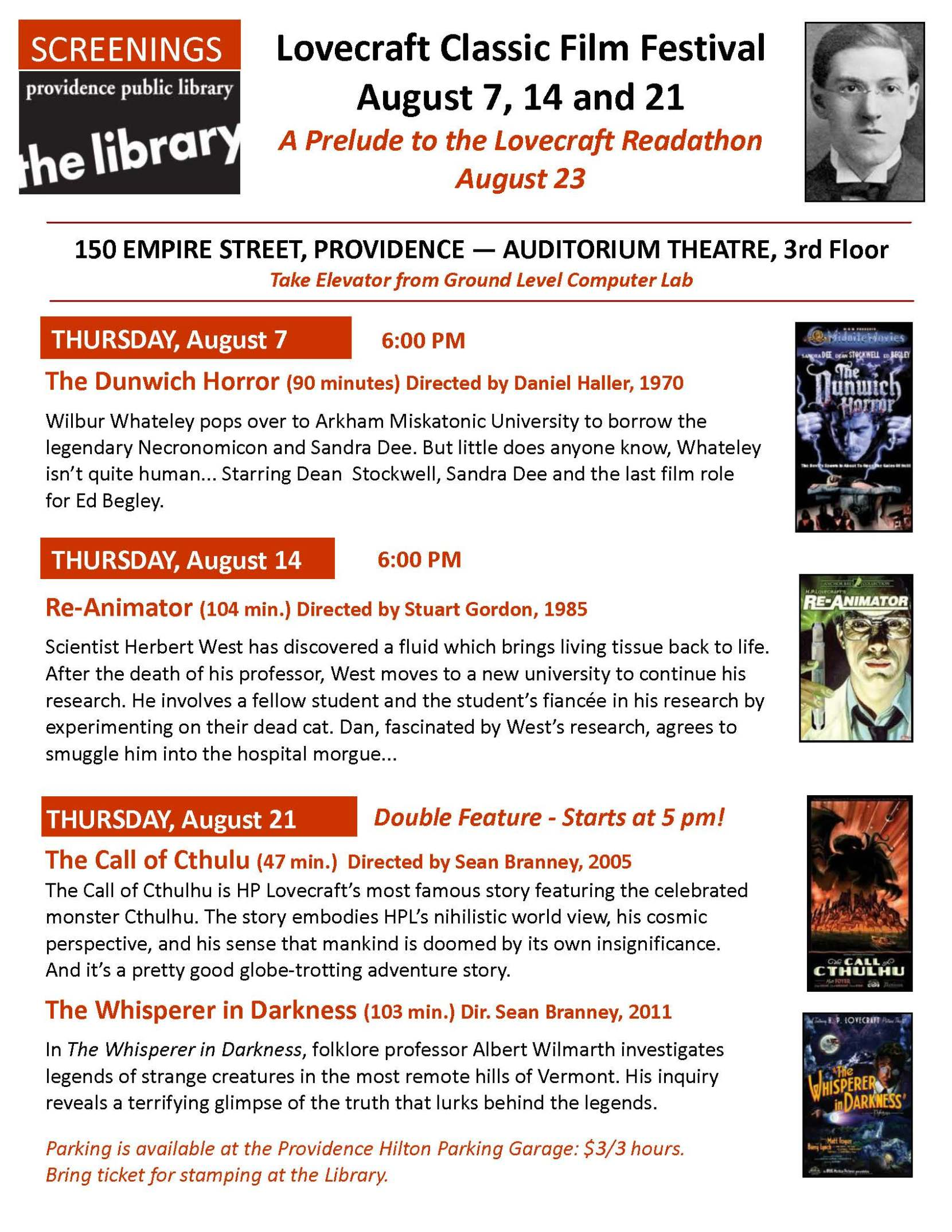 Lovecraft Film Festival8-14